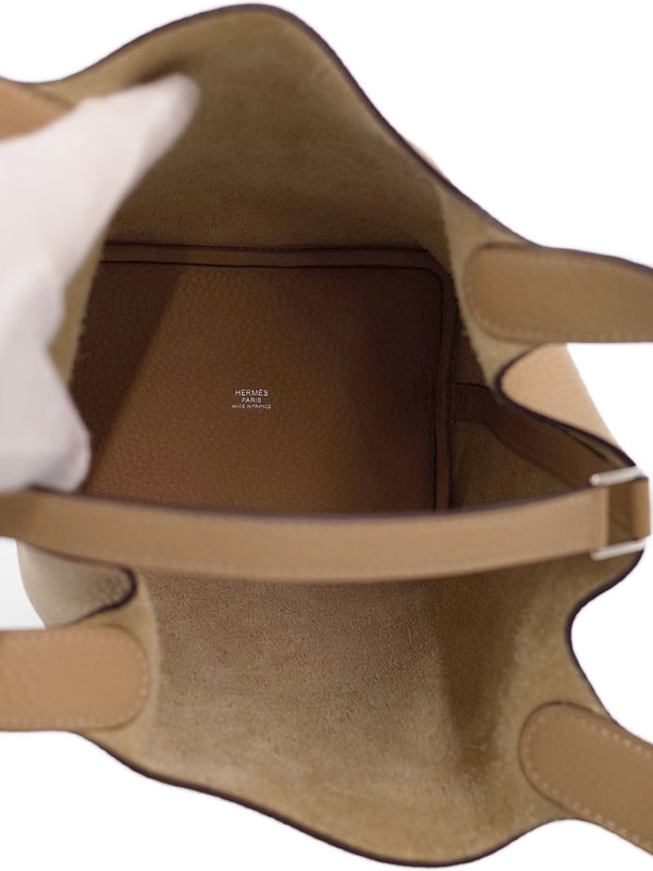 【HERMES】【シルバー金具】エルメス『ピコタンロックPM』056289CKS2 X刻印 2016年製 レディース ハンドバッグ 1週間保証【中古】