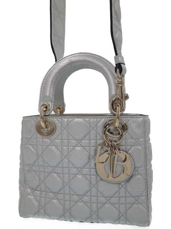 【Christian Dior】【カナージュ】クリスチャンディオール『レディディオール (S)』レディース 2WAYバッグ 1週間保証【中古】