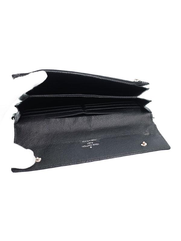 1bc4723e1ac8 【LOUIS VUITTON】【チェーン付】ルイヴィトン『ダミエ グラフィット ポルトフォイユ アコルディオン』N60023 メンズ 二つ折り長財布  1週間保証【中古】