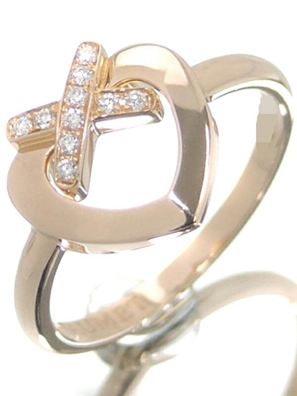 【CHAUMET】【Liens】ショーメ『K18PG リアンハート リング ダイヤモンド』11.5号 1週間保証【中古】