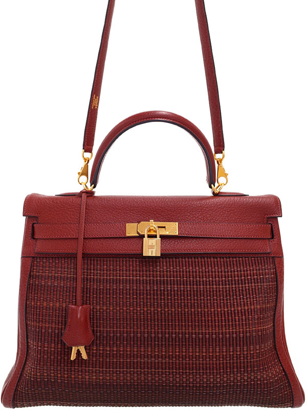 【HERMES】【ゴールド金具】エルメス『ケリー35 内縫い』F刻印 2002年 レディース 2WAYバッグ 1週間保証【中古】