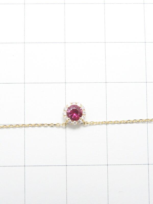【Star Jewelry】スタージュエリー『K18YG ルビー ダイヤモンド ネックレス』1週間保証【中古】