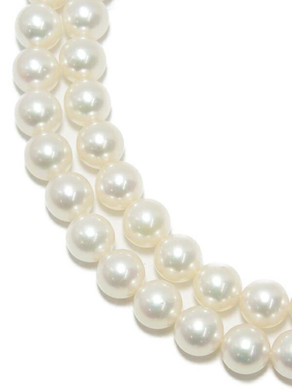 【MIKIMOTO】【2Way】【メーカー仕上げ済】ミキモト『K18YG パール ダイヤモンド 2連ネックレス』1週間保証【中古】