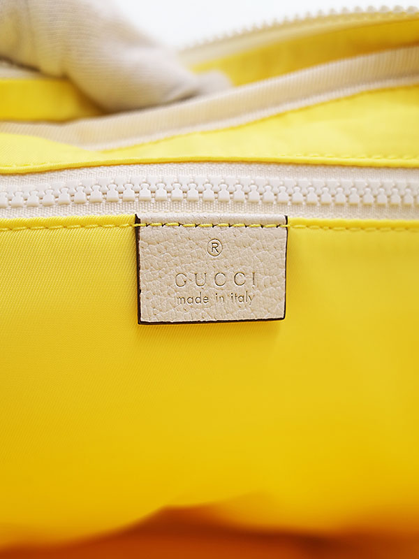 【GUCCI】グッチ『ナイロン リュックサック』536724 メンズ バックパック 1週間保証【中古】