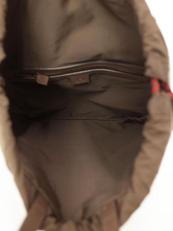【GUCCI】グッチ『GGスプリーム キャンバス ドローストリング バックパック』473872 メンズ 1週間保証【中古】