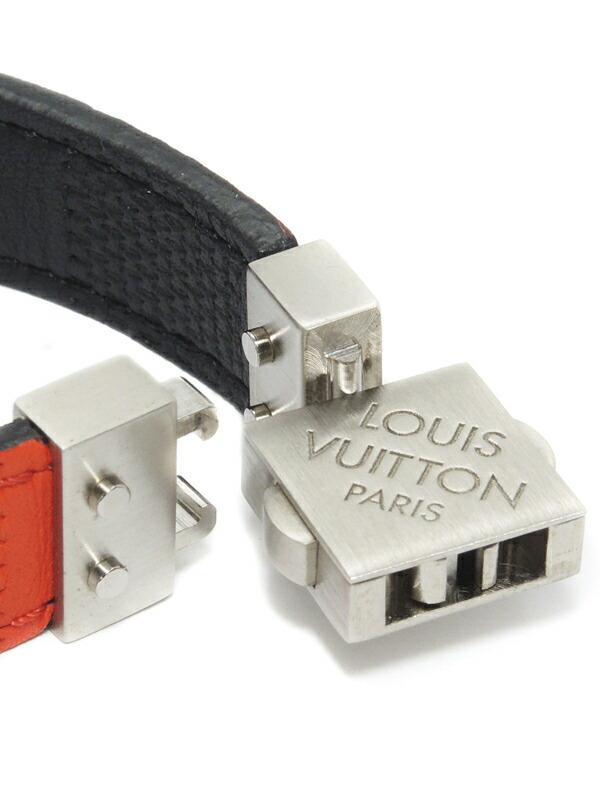 【Louis Vuitton】【ダミエ】【リバーシブル】 ルイヴィトン『ブラスレ・チェックイット』M6673E ブレスレット 1週間保証【中古】