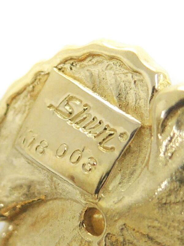 【田村俊一】【Shun】【クリップ式】【仕上済】タムラシュンイチ『K18YG イヤリング ダイヤモンド0.03ct 0.03ct フラワーモチーフ』1週間保証【中古】