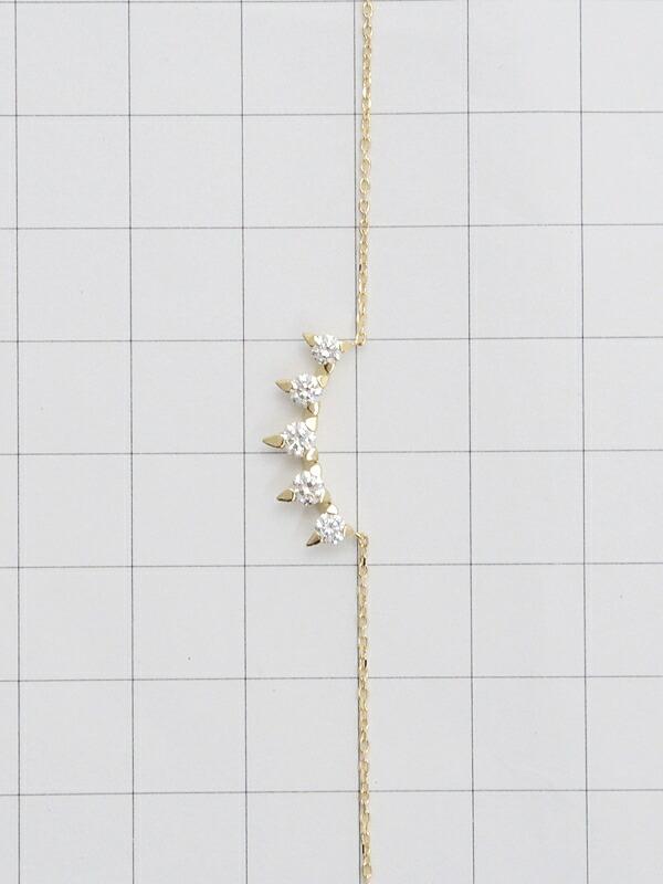 【TASAKI】タサキ『K18YG チャッティー プラント ペンダント ネックレス ダイヤモンド0.34ct』1週間保証【中古】