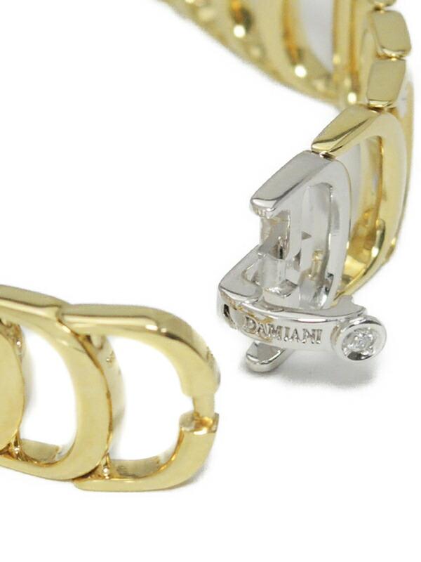 【DAMIANI】ダミアーニ『K18YG/K18WG ダミアニッシマ ブレスレット 1Pダイヤモンド』1週間保証【中古】