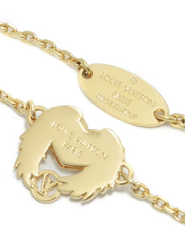 【Louis Vuitton】ルイヴィトン『ブラスレ・ドレイユ クール エンジェルラブ』M64398 ブレスレット 1週間保証【中古】