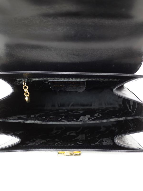 【Salvatore Ferragamo】フェラガモ『ガンチーニ 2WAYハンドバッグ』E21 0536 レディース 2WAYバッグ 1週間保証【中古】