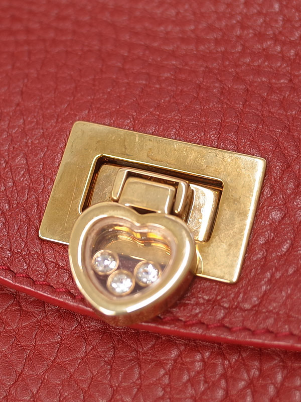 【Chopard】ショパール『レザー ハッピーダイヤモンド ハンドバッグ』レディース 1週間保証【中古】