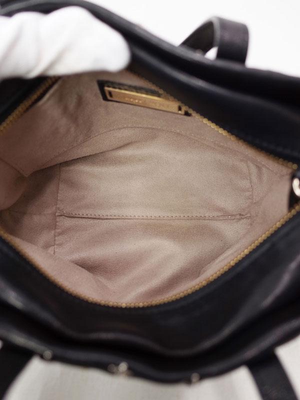 【Jimmy Choo】ジミーチュウ『ミニサラ スタースタッズ付 2WAYトートバッグ』レディース 2WAYバッグ 1週間保証【中古】
