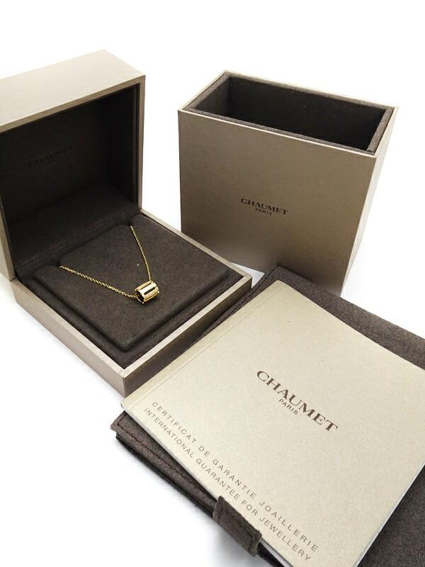 【CHAUMET】【チェーン社外品】ショーメ『K18YG クラスワン ダイヤモンド ネックレス』1週間保証【中古】