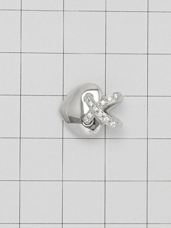 【CHAUMET】【Liens】ショーメ『K18WG リアン ドゥ ショーメ ハート ペンダントトップ ダイヤ』1週間保証【中古】