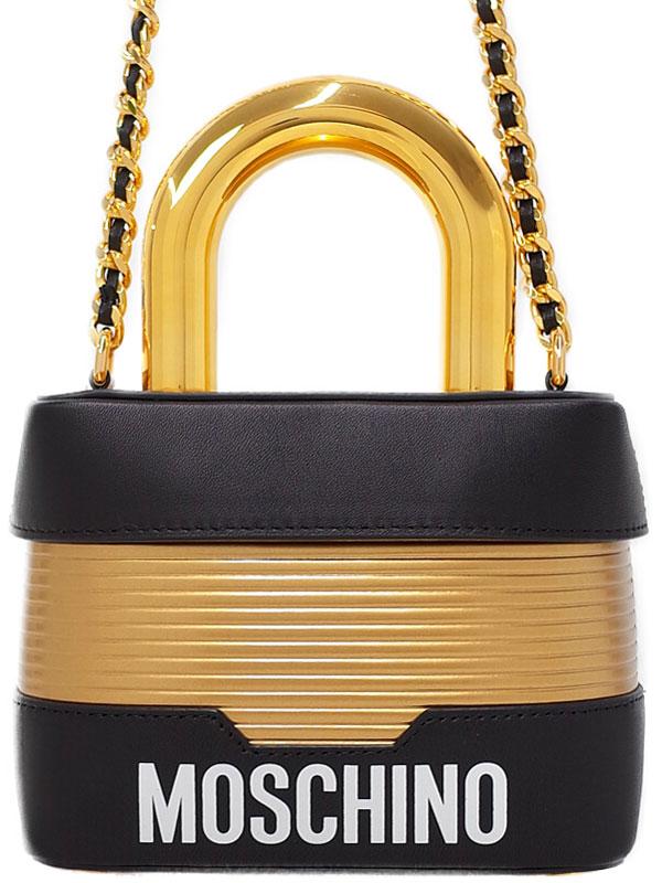 【H&M×MOSCHINO】モスキーノ『2WAYチェーンショルダーバッグ』レディース 2WAYバッグ 1週間保証【中古】