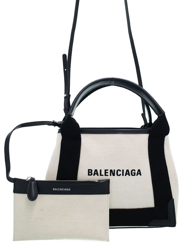【BALENCIAGA】【NAVY】バレンシアガ『ネイビーカバス XS』390346 レディース 2WAYバッグ 1週間保証【中古】