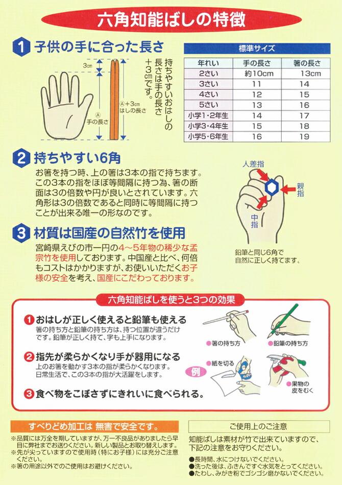 六角知能箸(ろっかくちのうばし)の特徴