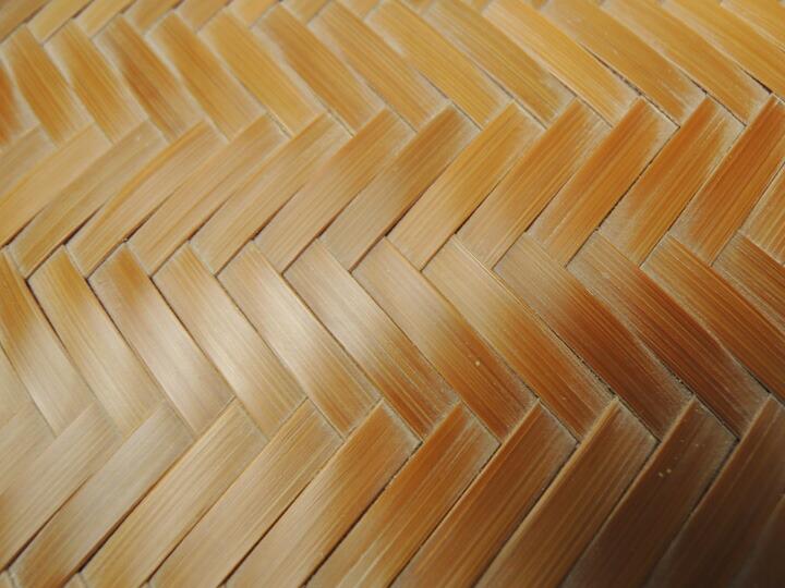 竹製 網代ショルダーバッグ 煤