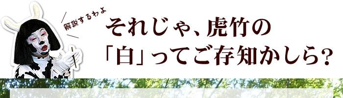 それじゃ、虎竹の「白」ってご存知かしら?