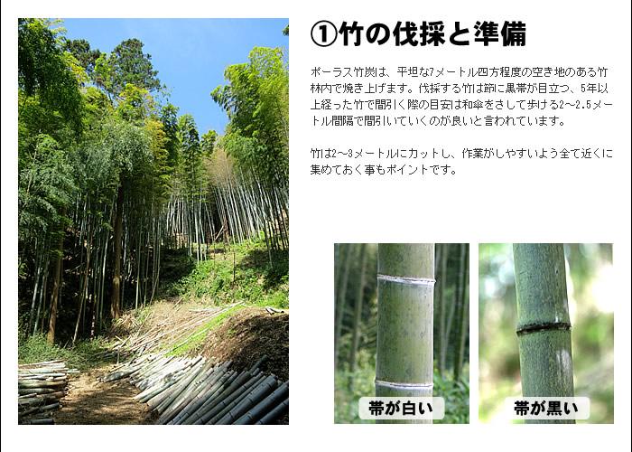 �竹の伐採と準備