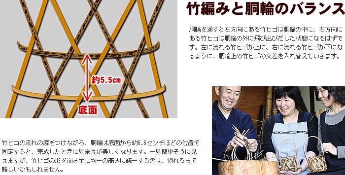 竹編みと胴輪のバランス