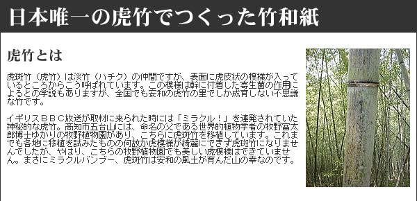 日本唯一の虎竹でつくった竹和紙 虎竹とは