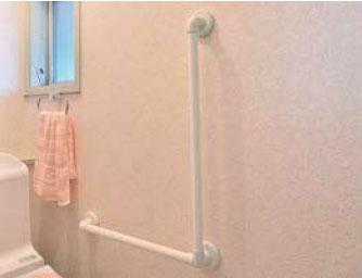 浴室(ユニットバス)や洗面所に取り付けできるL型手すりセット