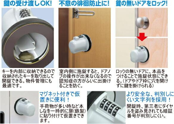 鍵の受け渡し・鍵の無いドアをロック・徘徊防止・ワンドアツーロック・賃貸物件の管理など