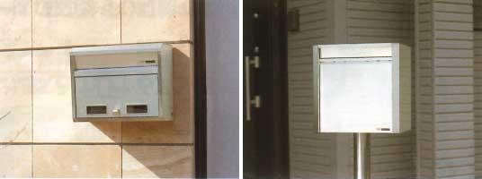 郵便受け箱(ステンレスポスト)壁面外掛け&ポール取り付けタイプ