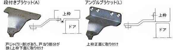 ドアクローザードア枠側取り付け部品(ブラケット)の種類