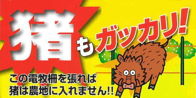 猪(イノシシ)もがっかり。電気柵でしっかりいのししの侵入を防ぐ!