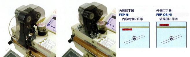 オプションの印字器(プリンター)を使うと印字可能!FEP-N1内側プリンター、FEP-OS-N1外側プリンターがあります。