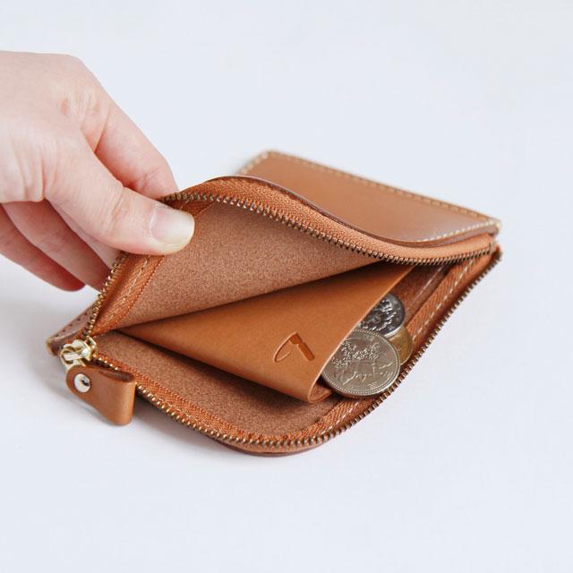 シンプルな小銭ポケット