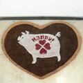 コイヤー製玄関マット happy pig