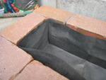 不織布 透水シート 草よけシート 土の流出防止用に花壇の中に入れてお使いください