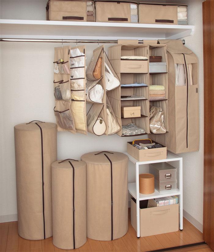 【楽天市場】HOME CODE クローゼット棚用 収納袋 S 85565:ハンガー&インテリアTAMATOSHI
