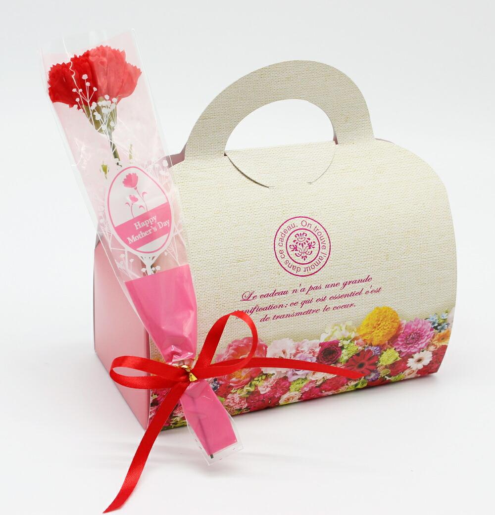 母の日 ギフト 花 スイーツ 生花プチカーネーション花束と小さなケーキ屋さんのプチスイーツ5種セット