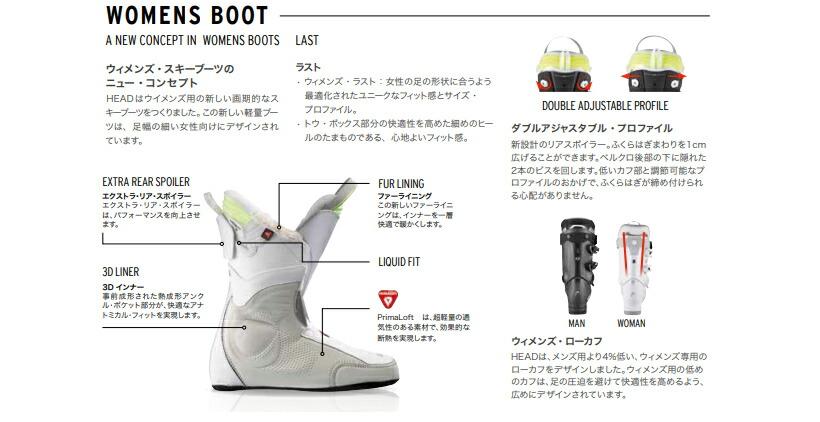 HEAD Nexo LYT 80 W Womens Ski Boots White