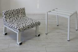 子供椅子(学習椅子)ロンフレンチェア・パピー/ダルメシアン+k9脚