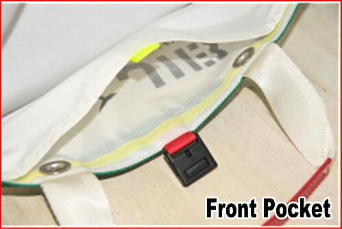 正面ボーダー切り替え生地は二重になっており、ポケット仕様になっています