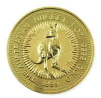カンガルー(ナゲット)ゴールドコイン画像
