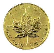メイプルリーフコイン画像
