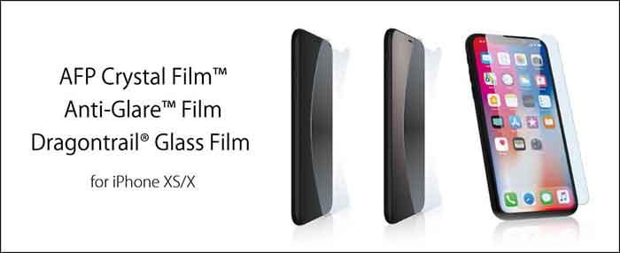 POWERSUPPORT iPhoneX 保護フィルム ガラスフィルム