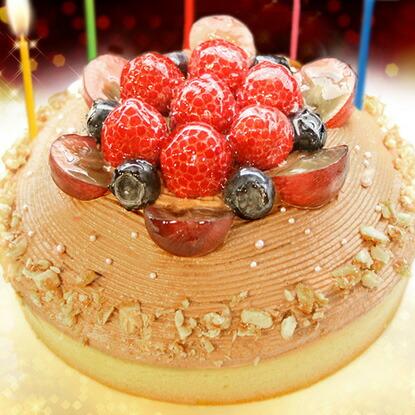 木苺のチョコレートケーキ