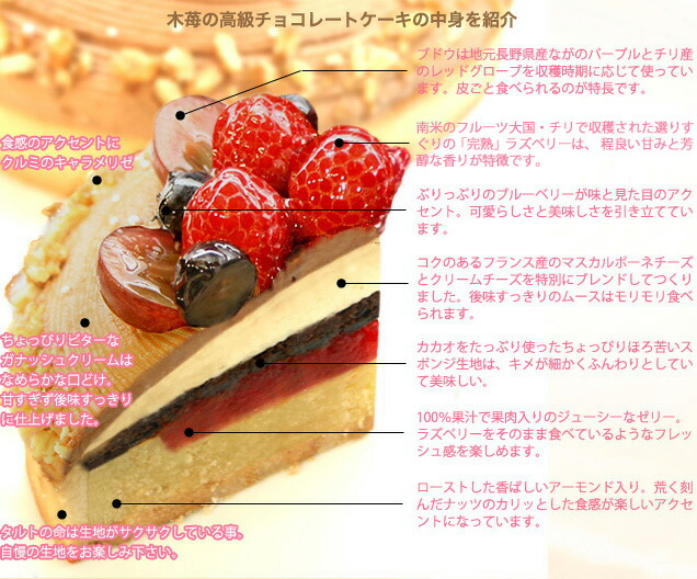 木苺の高級チョコレートケーキの中身をご紹介