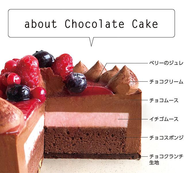 チョコレートケーキ with Crimson berryについて