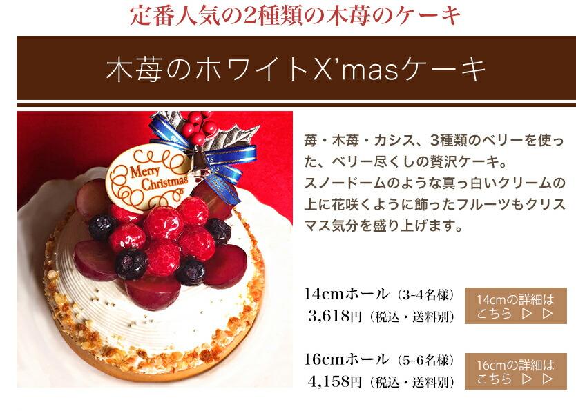 木苺のホワイトクリスマスケーキ