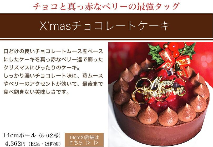 Xmasチョコレートケーキ