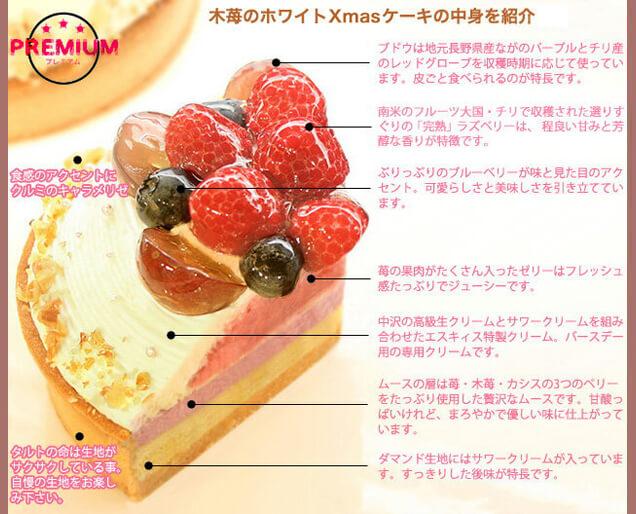 木苺のホワイトXmasケーキの中身を紹介
